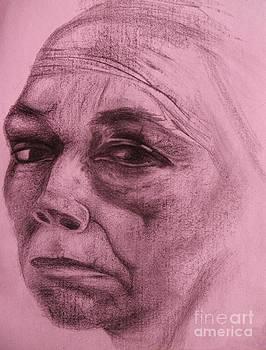 Kathe Kollwitz - Rose Hue by Jacquelyn Roberts