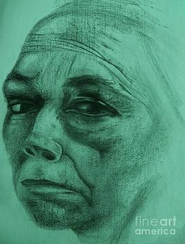 Kathe Kollwitz - Teal Hue by Jacquelyn Roberts