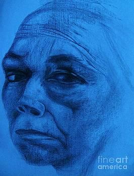Kathe Kollwitz - Ultramarine Hue by Jacquelyn Roberts