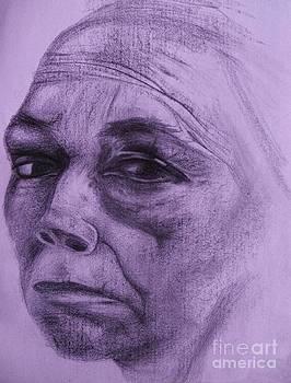Kathe Kollwitz - Violet Hue by Jacquelyn Roberts
