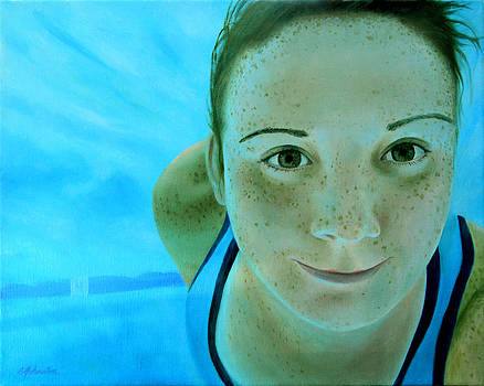 Katie in the Pool by Beth Johnston