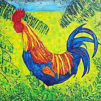 Kauai Rooster by Susan M Woods