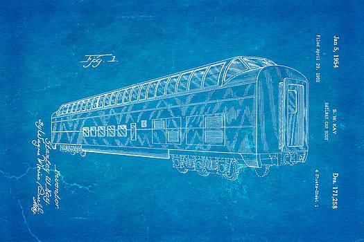 Ian Monk - Kay Railway Car Patent Art 1954 Blueprint