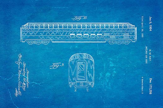Ian Monk - Kay Railway Car Patent Art 2 1954 Blueprint