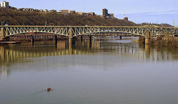 Kayak and Bridge by M Hess