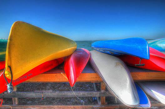 Kayak Stack by Donna Vasquez