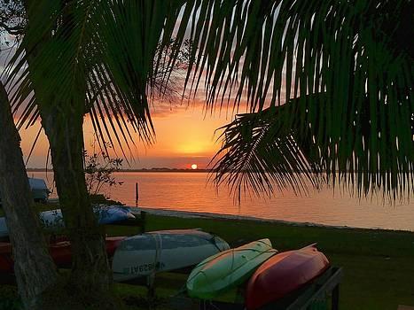 Kayak Sunset by Elaine Franklin
