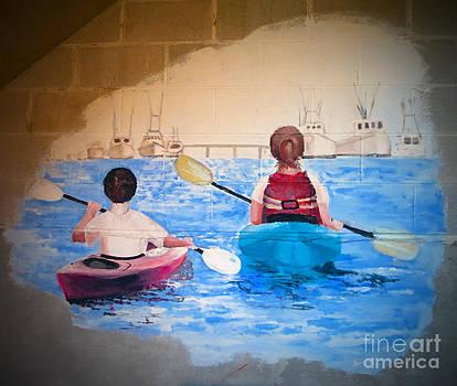 Kayaking Graffiti Style by Lisa Jones