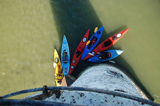 Kayaks from Above by Thomas Taylor