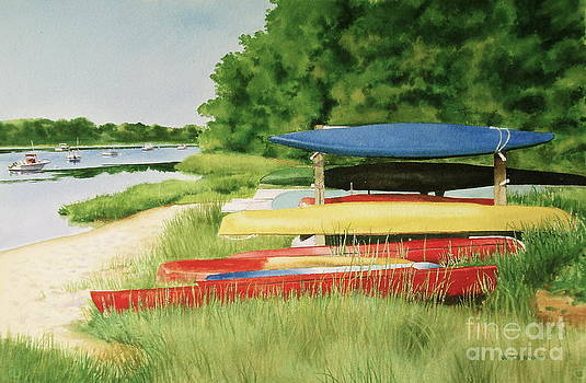 Kayaks In Limbo by Karol Wyckoff