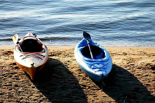 Kayaks ready to set float by Danielle Allard