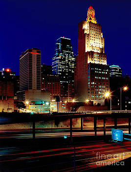 Gary Gingrich Galleries - KCPL Kansas City Skyline-1990