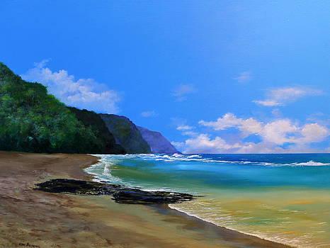 Ke'e Beach Kauai by Ken Ahlering