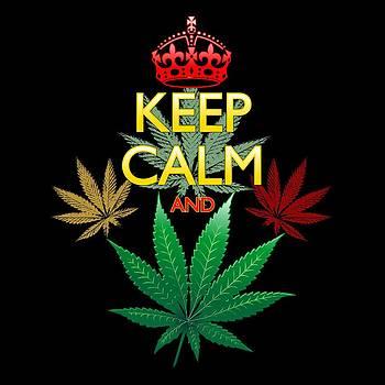 Keep Calm and Marijuana Leaf by BluedarkArt Lem