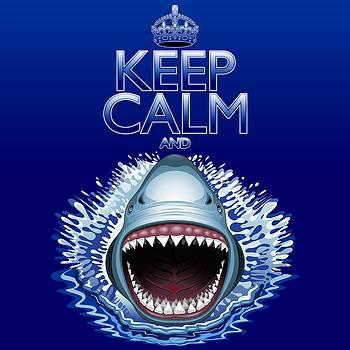 Keep Calm and Shark Attack by BluedarkArt Lem