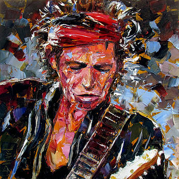 Keith Richards portrait by Debra Hurd