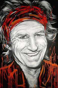 Keith Richards by Tamara Vogrin Tara