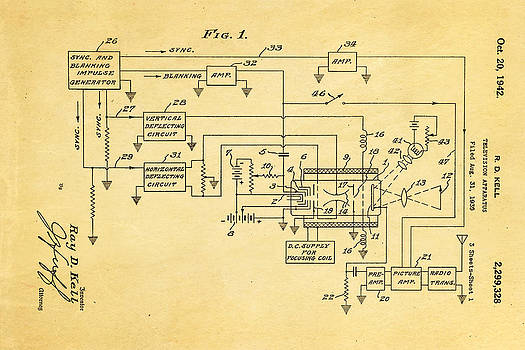 Ian Monk - Kell Color Television Patent Art 1942