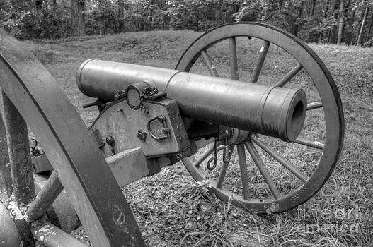 Kennesaw Cannon 2 Black and White by Jonathan Harper