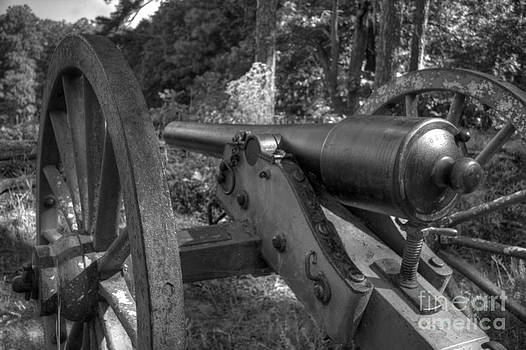 Kennesaw Cannon 3 Black and White by Jonathan Harper
