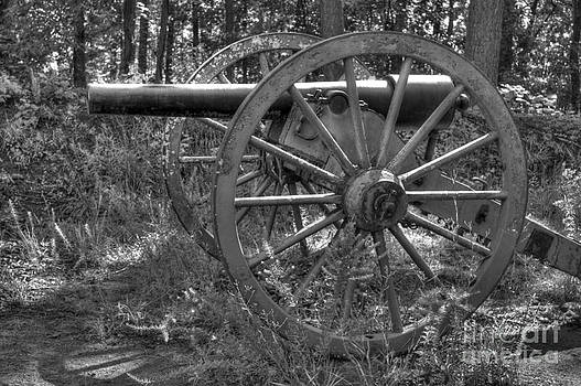 Kennesaw Cannon 4 Black and White by Jonathan Harper