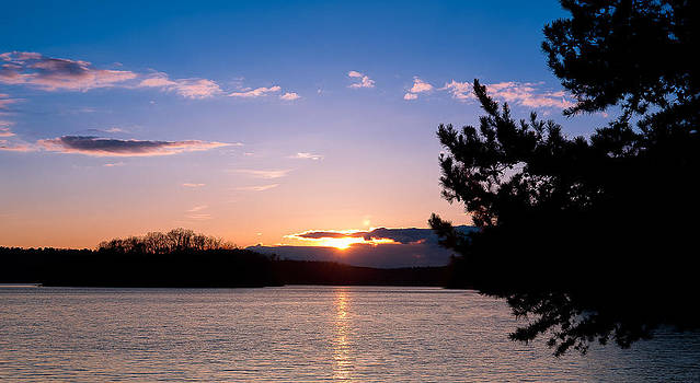 Keowee Sunset at Mile Creek State Park by Dustin Ahrens