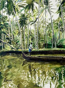Kerala Backwaters by Ramesh Jhawar