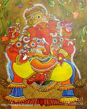 Rekha Artz - Kerala Mural Ganesha