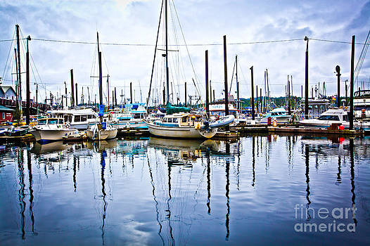 Ketchikan Harbor Alaska Reflection by Christy Woodrow