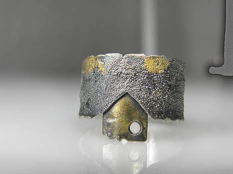 Keum Boo silver ring with patina by Vesna Kolobaric