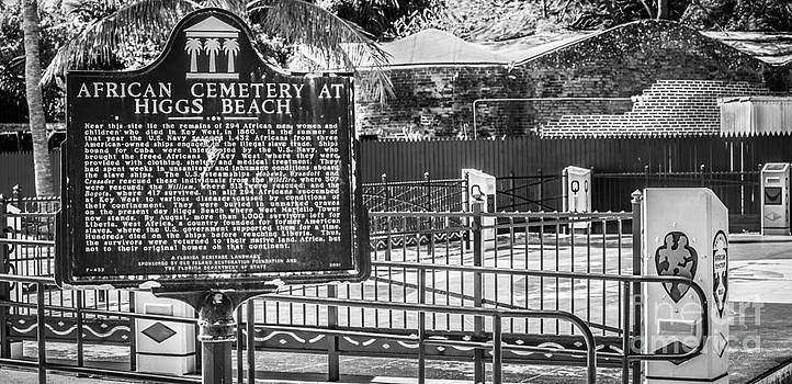 Ian Monk - Key West African Cemetery 7 - Key West - Panoramic - Black and White
