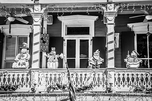 Ian Monk - Key West Christmas Decorations 1 - Black and White