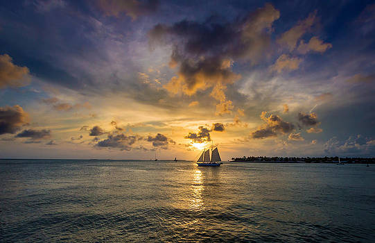 Key West Florida Sunset Mallory Square by Robert Bellomy