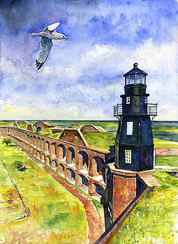 Key West Lighthouse 2 by John D Benson