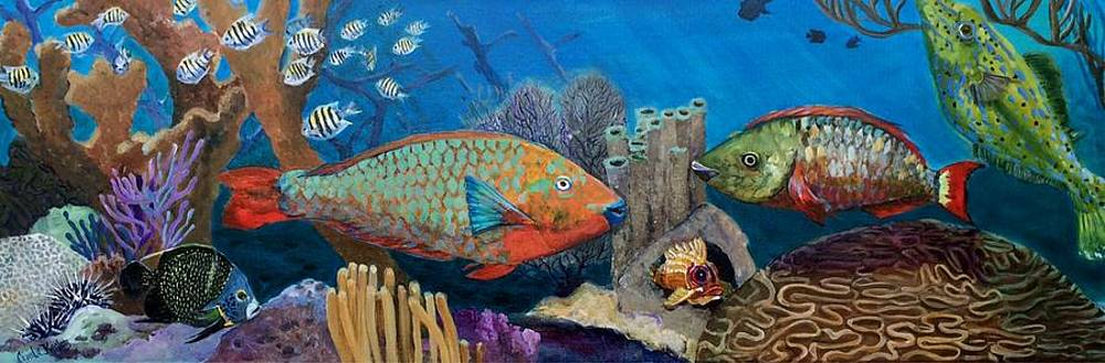 Keys Reef Encounter by Linda Kegley