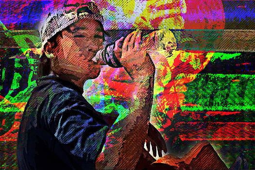 Kid drinking by AnTon Takagari