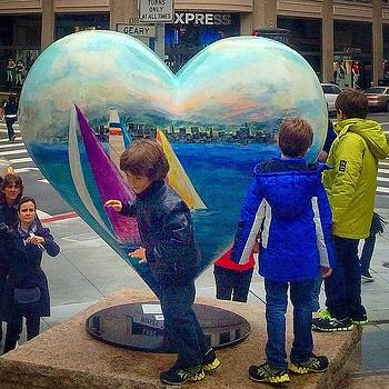 Kids Playing Around The Heart Of San by Karen Winokan