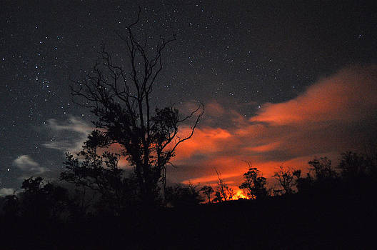 Kilauea and Stars by Shannon Ordaz