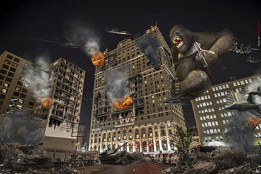 King Kong in Detroit Westin Hotel by Nicholas  Grunas