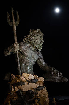 King Neptune and the Perigee moon by Robert Searles