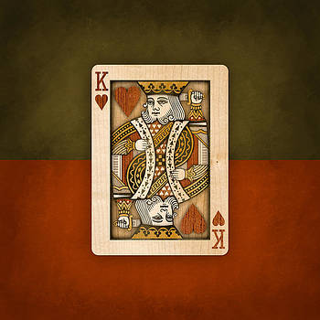 King of Hearts in Wood by YoPedro