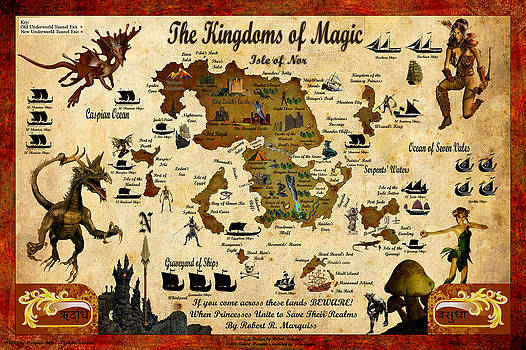 Kingdoms of Magic Battle Map by Robert Marquiss