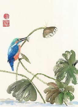 Kingfisher Catch by Terri Harris