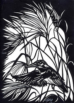 Alfred Ng - kingfisher paper cut
