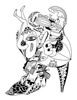 Kinky Toes Heel by Kenal Louis