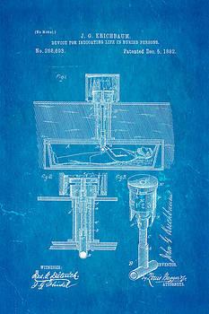 Ian Monk - Kirchbaum Burial Life Detector Patent Art 1882 Blueprint