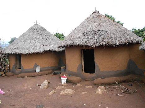 Kisii Tribe Grass Tatched House by Samuel Ondora