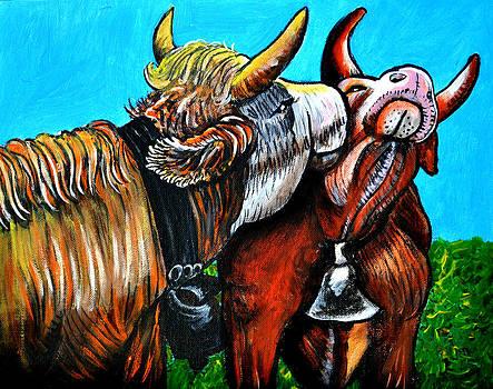 Kissing Cow by Bob Crawford
