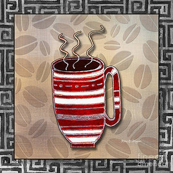 Kitchen Cuisine Hot Cuppa Coffee Cup Mug Latte Drink 2 by Romi and Megan by Megan Duncanson