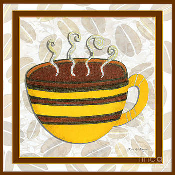 Kitchen Cuisine Hot Cuppa No14V2 by Romi and Megan by Megan Duncanson